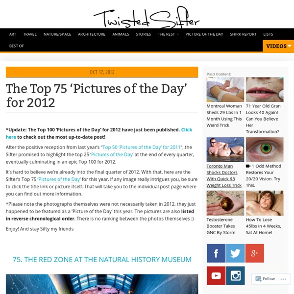 The Top 75 'Pictures of the Day' for 2012