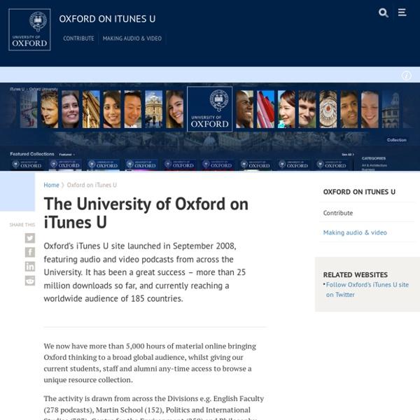 The University of Oxford on iTunes U