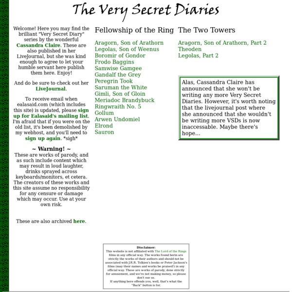 The Very Secret Diaries