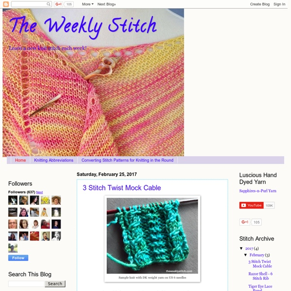 The Weekly Stitch