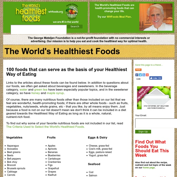 The World's Healthiest Foods