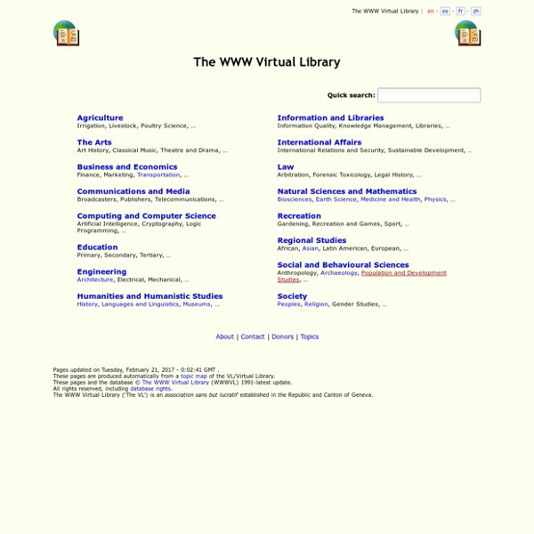 The WWW Virtual Library