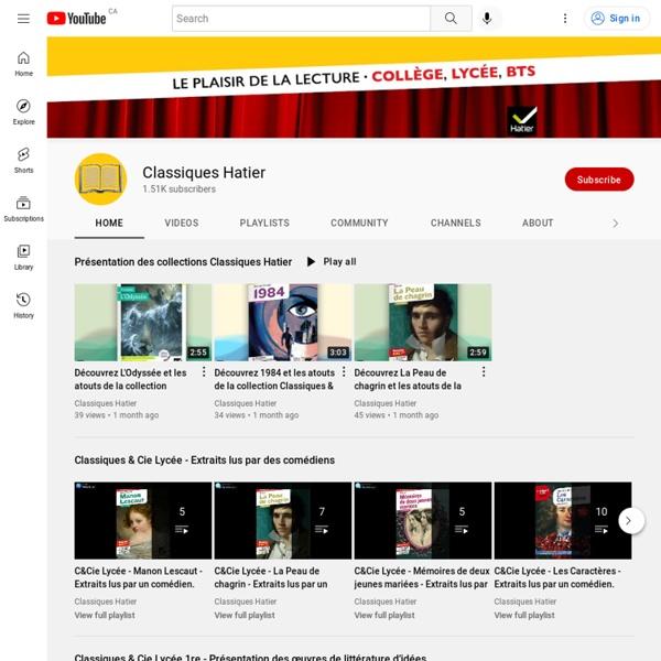 Théâtre sur YouTube : extraits de pièces