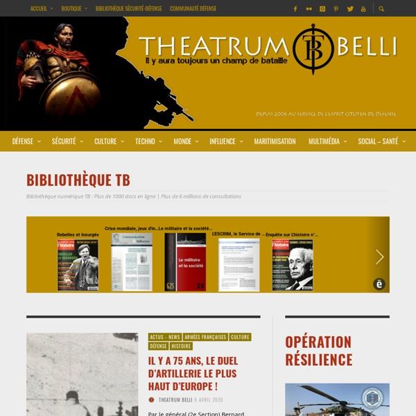 THEATRUM BELLI : 1er blog français de veille et d'études polémologiques