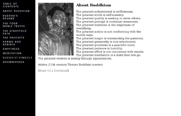 Buddhism - The Four Noble Truths, The Eightfold Path, Karma and Meditation Practice - Epic