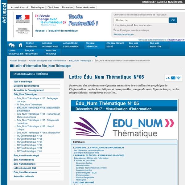 Lettre Edu_Num thématique n°5 : Visualisation d'information