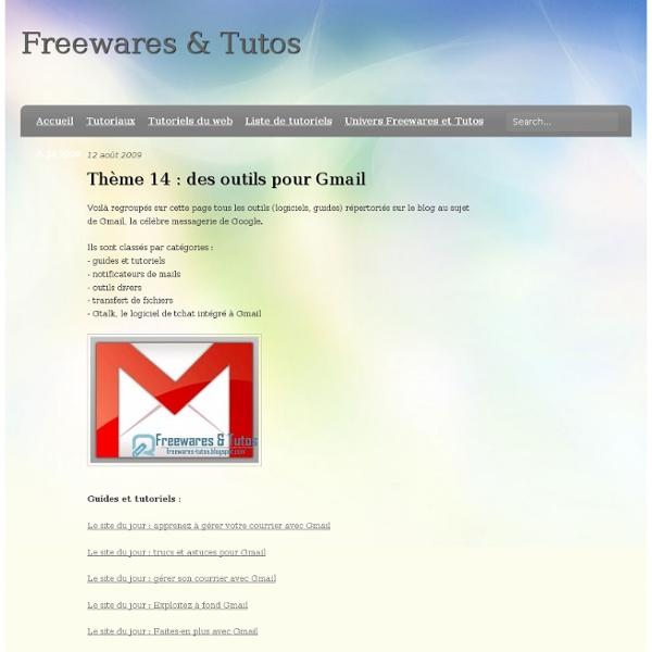Thème 14 : des outils pour Gmail