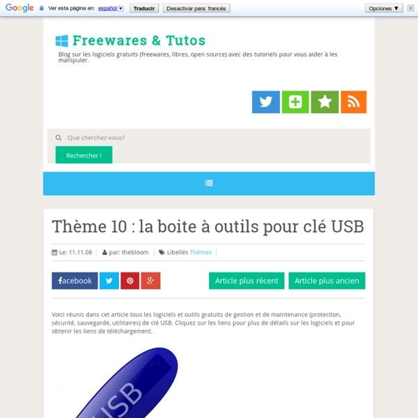 Thème 10 : la boite à outils pour clé USB