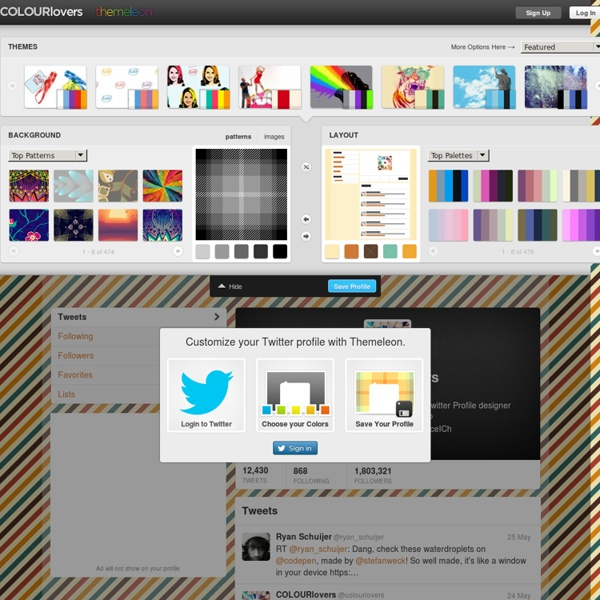 Twitter Profile Designer by COLOURlovers