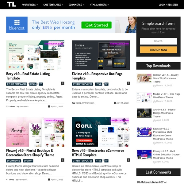 THEMELOCK.COM - FREE PREMIUM THEMES & TEMPLATES
