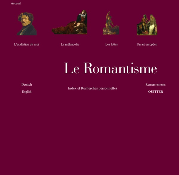 Thèmes et aspects du romantisme. Lettres ac-Rouen