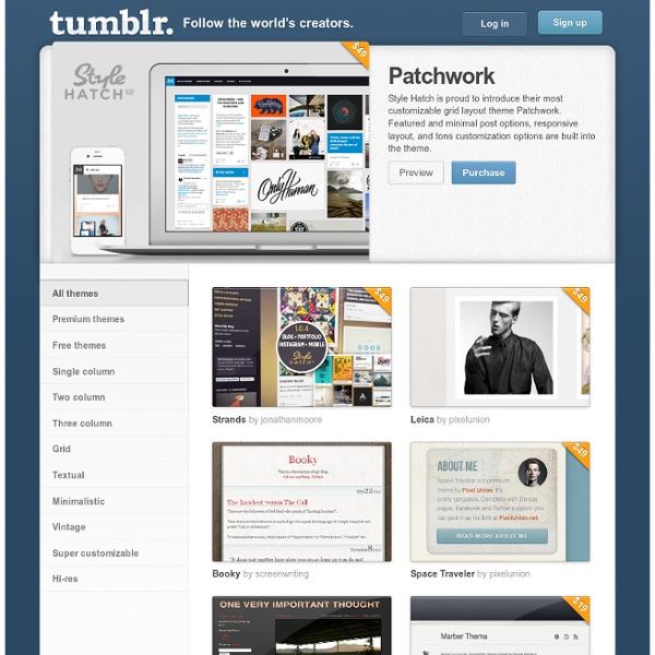 Tumblr theme garden