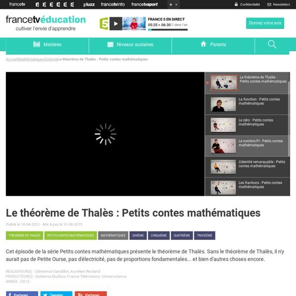 Le théorème de Thalès : Petits contes mathématiques