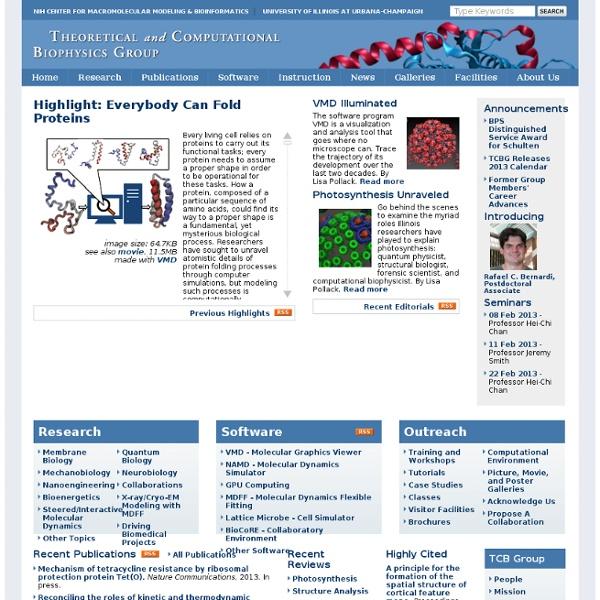 Theoretical and Computational Biophysics Group