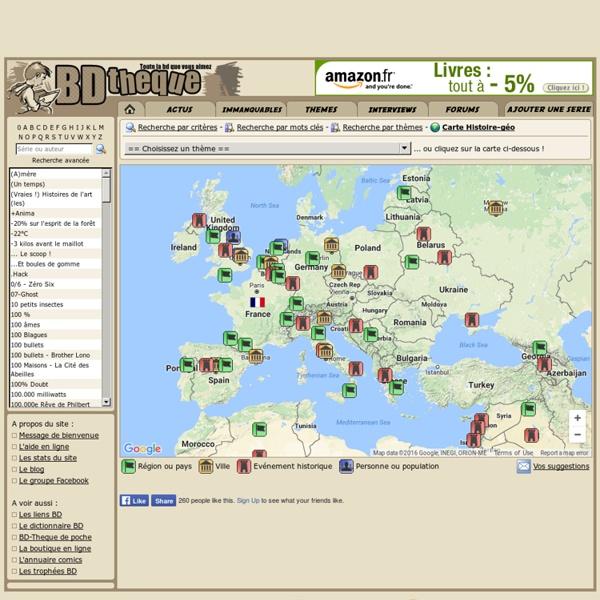 BD-Theque : Carte Histoire-géo interactive