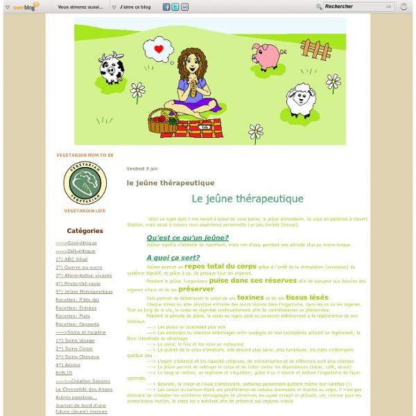 Le jeûne thérapeutique - Naturopathie