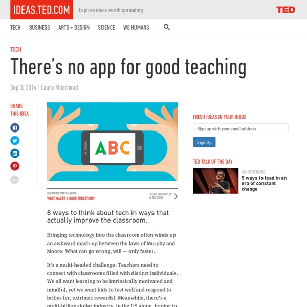 There's no app for good teaching