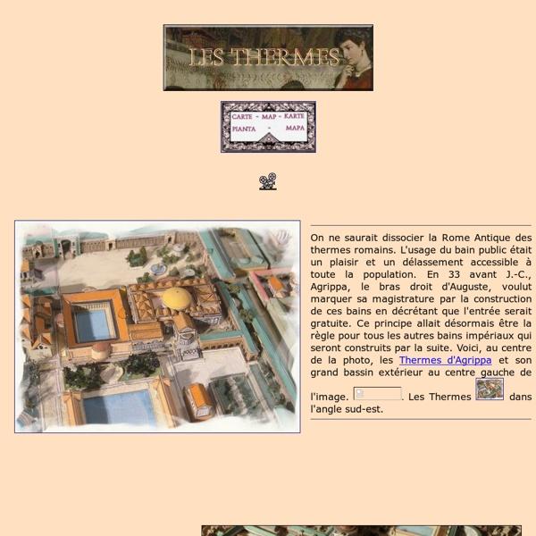 Thermes - maquettes historiques (Rome)