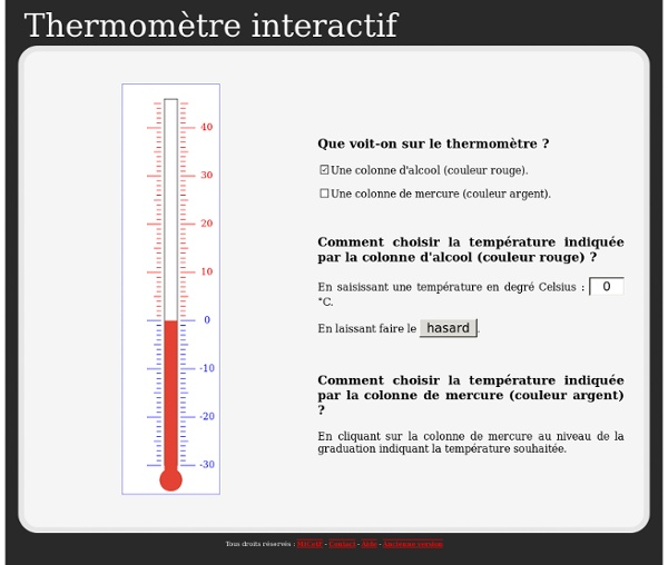 Thermometre interactif