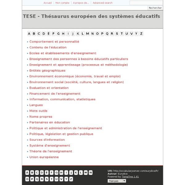 TESE - Thésaurus européen des systèmes éducatifs
