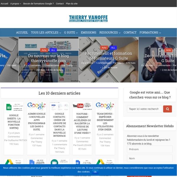 Le site de Thierry VANOFFE, consultant et formateur GOOGLE.