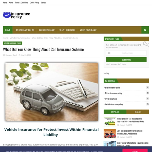 What Did You Know Thing About Car Insurance Scheme
