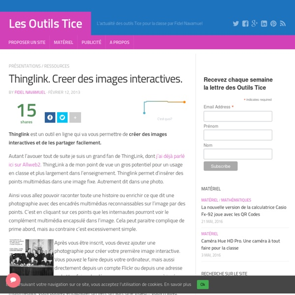 Thinglink. Creer des images interactives