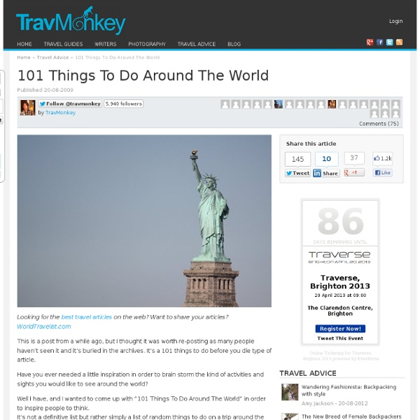 101 Things To Do Around The World