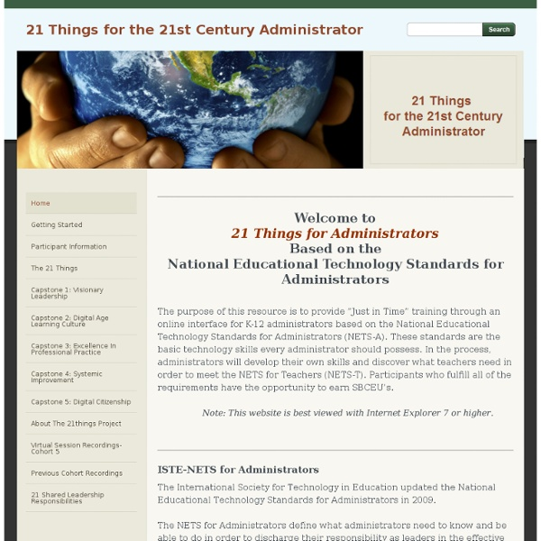 21 Thingsfor the21st Century Administrator - Home