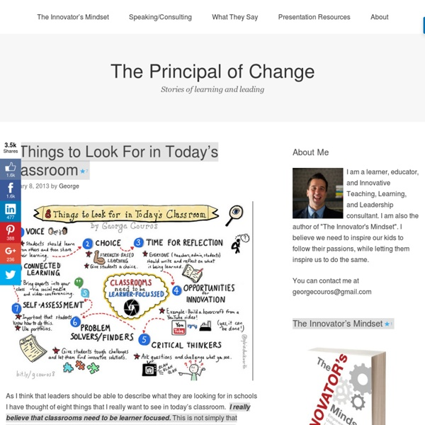 8 Things to Look For in Today's Classroom – The Principal of Change