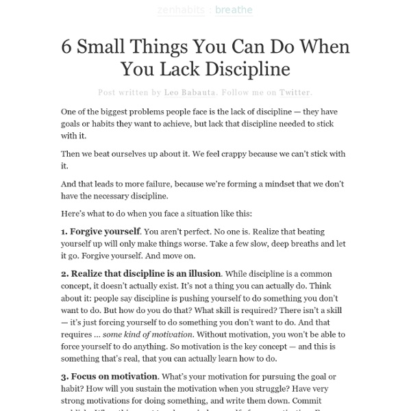 6 Things You Can Do When You Lack Discipline