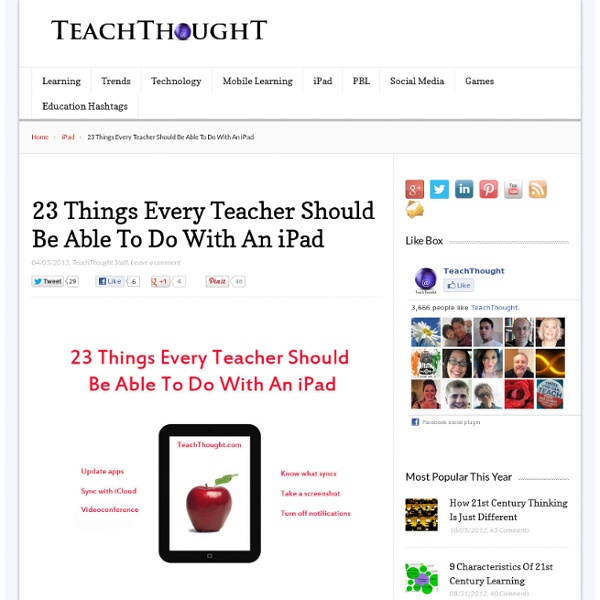 23 Things Every Teacher Should Be Able To Do With An iPad