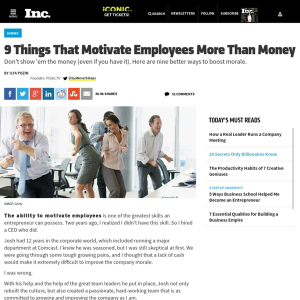 9 Things That Motivate Employees More Than Money