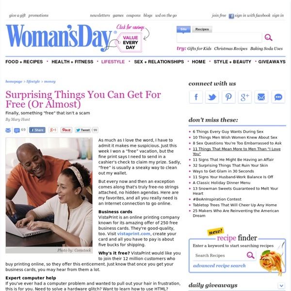 Free Things to Do - Free Tips on Saving Money at WomansDay