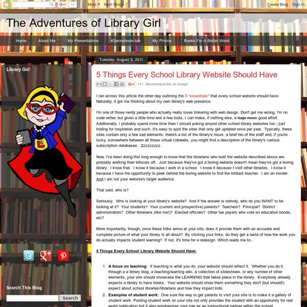 5 Things Every School Library Website Should Have