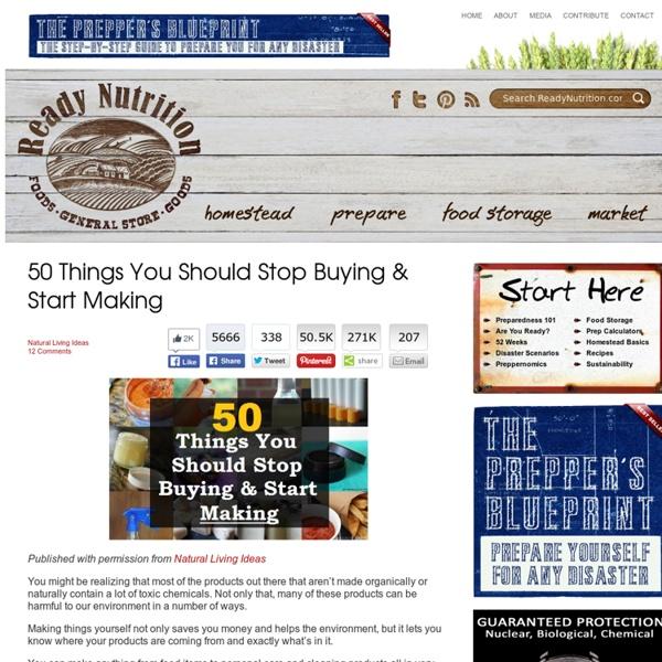 50 Things You Should Stop Buying & Start Making