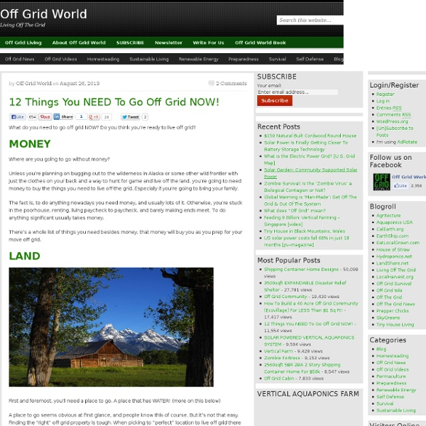 12 Things You NEED To Go Off Grid NOW!