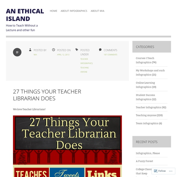 27 Things Your Teacher Librarian Does