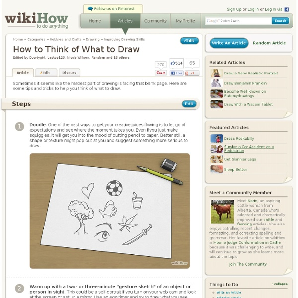 How to Think of What to Draw