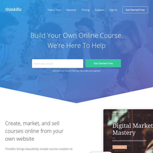 Sell online courses on your own site - Thinkific.com