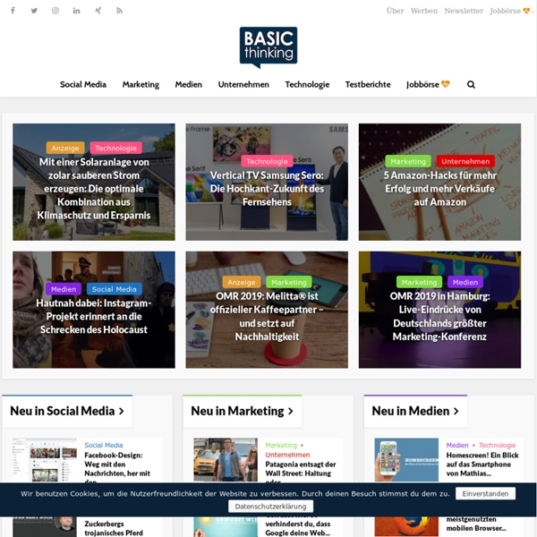 BASIC thinking – Online-Magazin für Social Media und Digitales