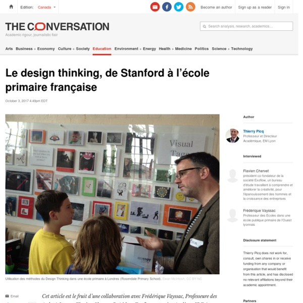 Le design thinking, de Stanford àl'école primairefrançaise