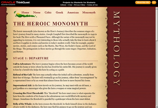 Heroes of History - The Heroic Monomyth