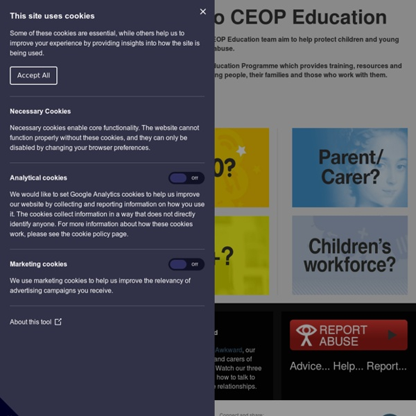 WEBSITE - E-Safety- Thinkuknow