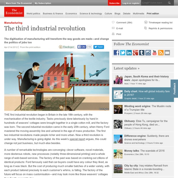 Manufacturing: The third industrial revolution