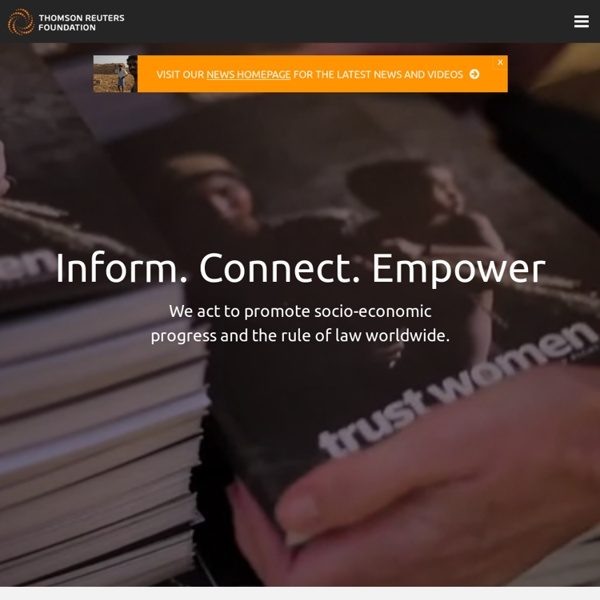 Thomson Reuters Foundation Homepage - Trust.org