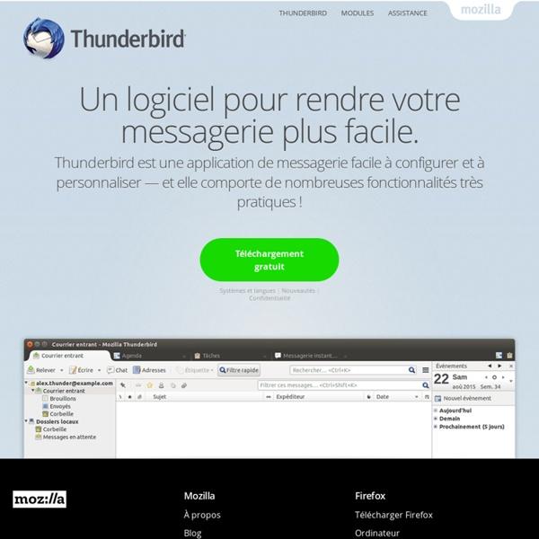 Thunderbird — Un logiciel pour rendre votre messagerie plus facile.