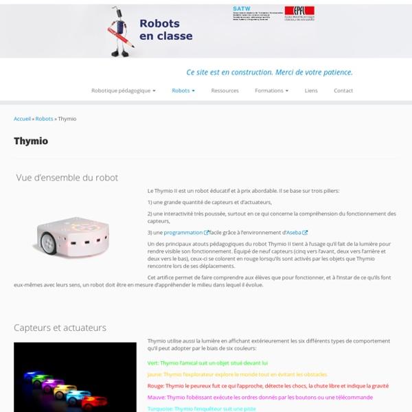 Thymio II - Robots en classe
