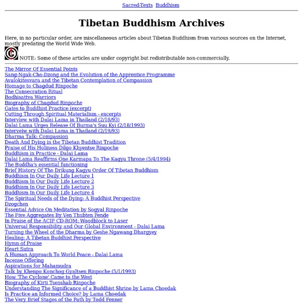 Tibetan Buddhism Archives