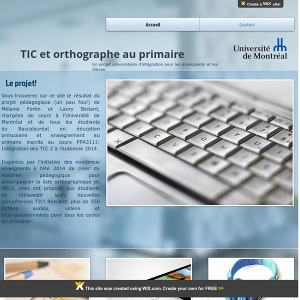 TIC et orthographe